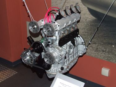 DOHC prototype engine.