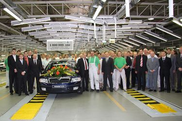 1.000.000 car manufactured at Vrchlabi plant since VW takeover in 1991, 2.0 PD-TDI (source: Škoda Auto)