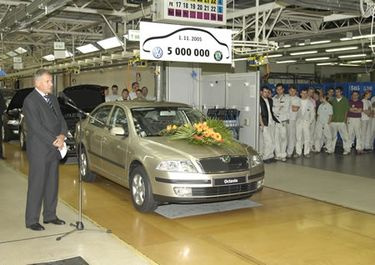 5 million car since VW takeover in 1991, 1.6 MPI (source: Škoda Auto)