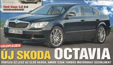 First pictures of Octavia 3? (source: Autópiac weekly magazine)